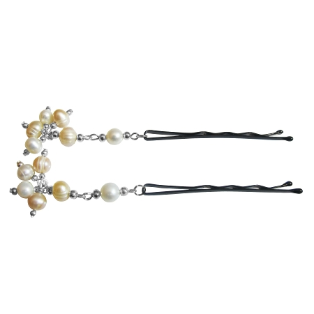 Customize Your Choice Bridal Hair Pin Peach Natural Freshwater Pearls