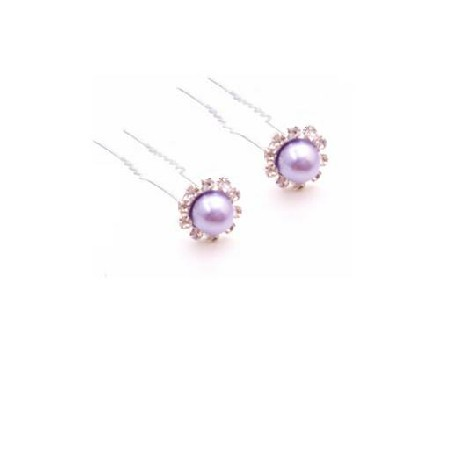 Matching Hair Pin Victoria Lilac Bridal Hair Accessories Hair Pin