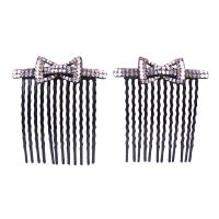 Bow Design Crystals Hair comb for Quinceanera Pageants Prom