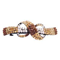 Stylish Illusory 8 Shaped Bow Barrette In Smoked Topaz :  stylish smoked barrette barrette topaz