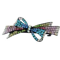 Multicolored Crystals Hair Barrette Fabulous Party Wear Hair Barrette