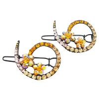 Wedding Hair Barrette Match With Gold Yellow Dress Inexpensive Clip