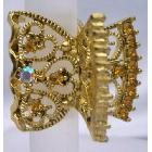 Gold Plated Hair Accessories Topaz Crystal Hair Accessories Clamp Hair claw Clip