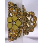 Artistically & Sophisticated Crystal Hair Accessories Topaz Crystal Hair Clamp Clip