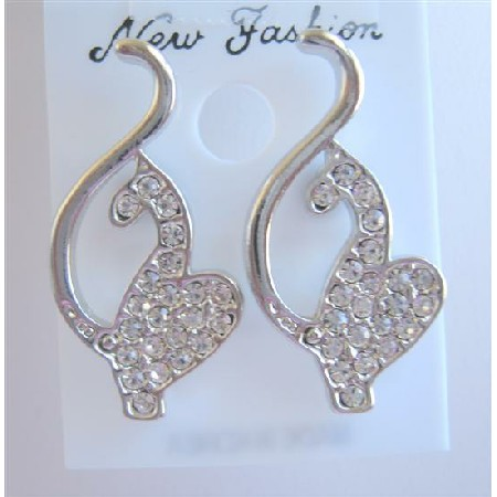 Classic Designed Sparkling Pierce Earrings To Your Heart