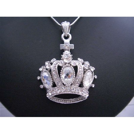 Crown Pendnat Necklace w/ Very Delicate Sophisticate Pendant Desigen