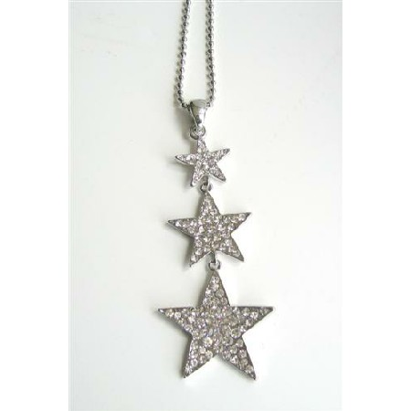 Star Sign in Ice Shimmering all covered w/ CZ 24 inches