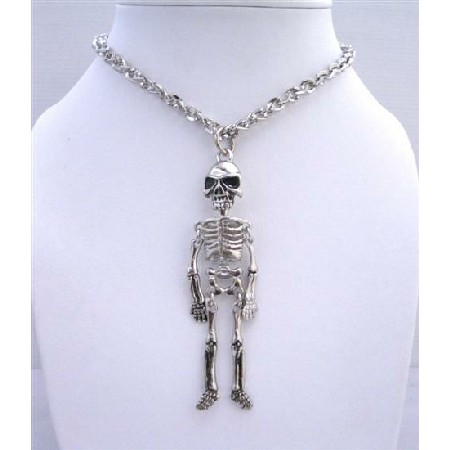 Skeleton body pendant necklace halloween jewelry halloween necklace aloadofball Image collections