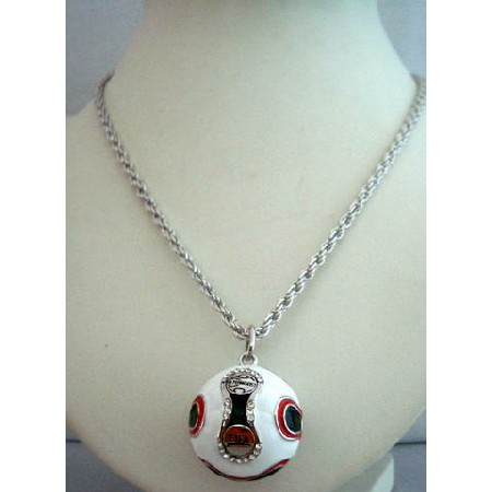 Cup soccer pendant hip hop men necklace 26 inches world cup soccer pendant hip hop men necklace 26 inches mozeypictures Image collections