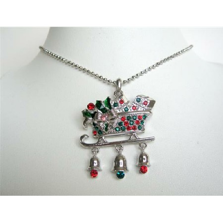 Christmas Pendant Necklace Prosperity Jewelry