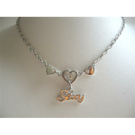 Sexy Flirty Heart Pendant Necklace