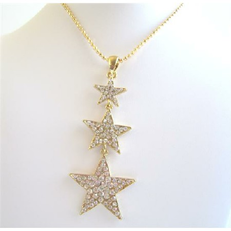 HipHop STAR 22k Gold Plated Pendant Thick Chained Necklace Gold Plated