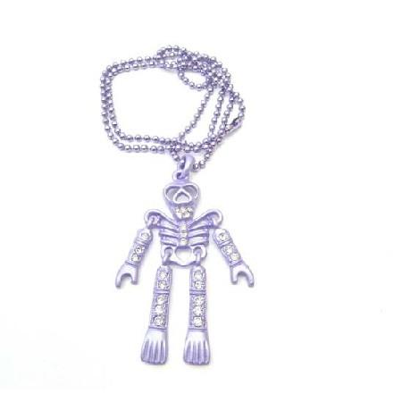Purple Skeleton Halloween Body Pendant Necklace Pendant Jewelry