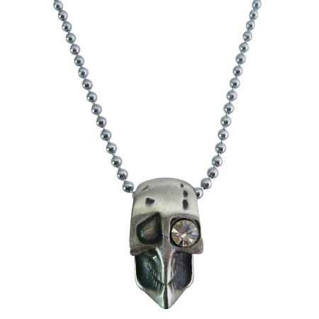 Looking For Stunning Halloween Jewelry One Eye Skull Pendant