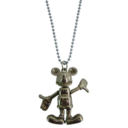 Walt Disney Jewelry Movable Micky Mouse Necklace
