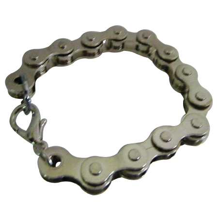 Stainless Steel Bike Chain Bracelet Holiday Gifts