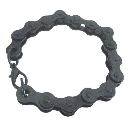 Black Thick Chained Bike Bracelet Holiday Gifts