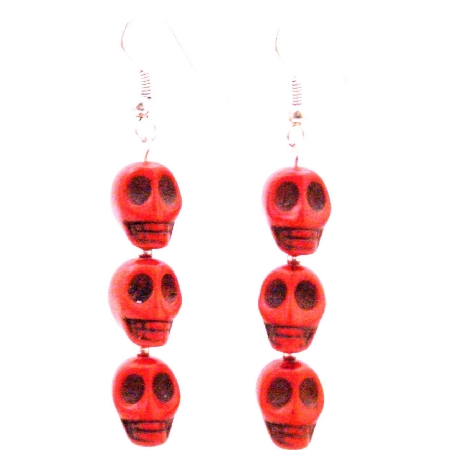 Unique Halloween Gift Skull Earrings
