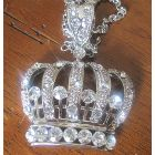 Blin Bling King Crown Hip Hop Pendant w/ 28 Inches Chain BLING!