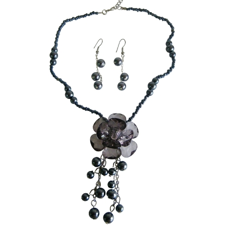 Purchase Affordable Grey Jewelry Prom Flower Girl Jewelry