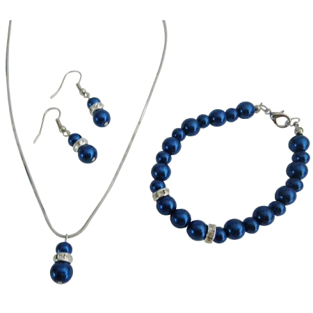 Best Affordable Jewelry w/ Silver Rondells Diamond Dark Blue Jewelry