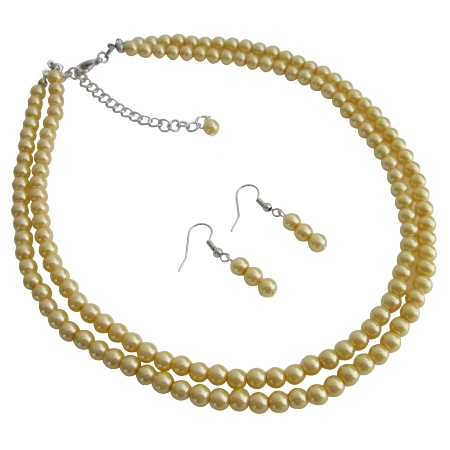 Gift For Mother Wife Girl Friend Wedding Favors Yellow Pearls Jewelry
