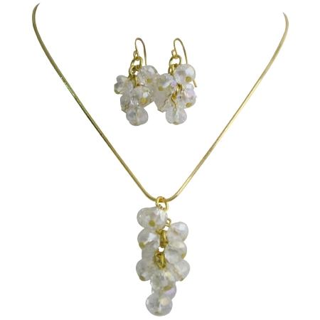 Suitable Jewelry In All occasion AB Chinese Crystals Set