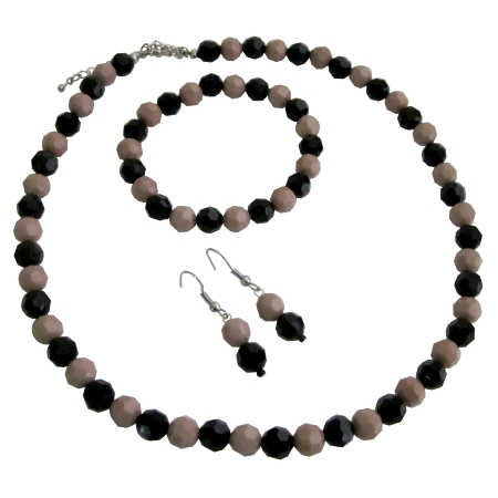 Wedding Gifts Holidays Gift Mocha And Black Combo Beads Jewelry