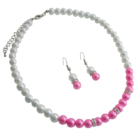Fine Jewelry Your Style Fashion At Low Price White Hot Pink Pearls