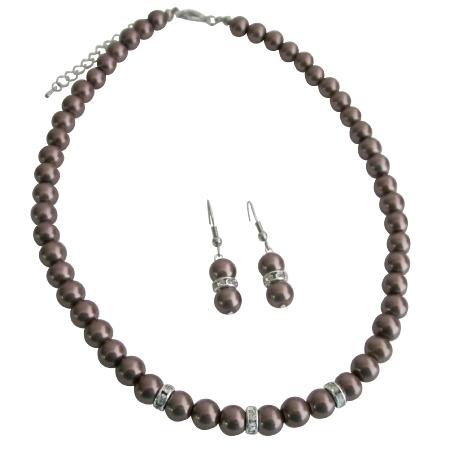 The Stunning Pearls Diamond Spacer BridesmaidBridal Jewelry Inexpensive Jewelry Set