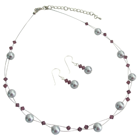 FashionJewelryForEveryone.com Reasonable Low Priced Budget Jewelry Bridesmaid In Purple Gray Color at Sears.com
