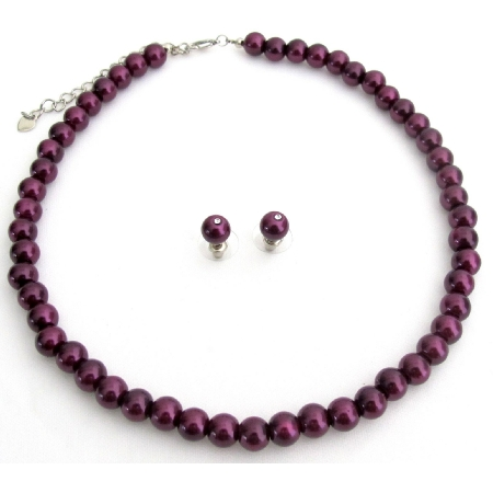 Beautiful Deep Purple Wedding Jewelry Sets