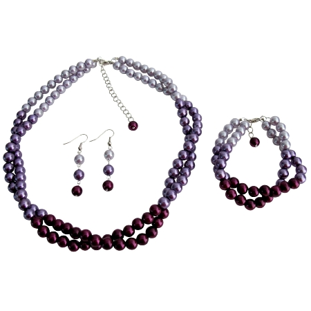 Purple Wedding Combo Colors Plum Purple Lilac Match with Your Wedding Dress Gorgeous Complete Set