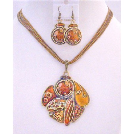 Evening Jewelry Party Jewelry Rust Color Smashing Color Vintage Ethnic Fabulous GIft Jewelery Under