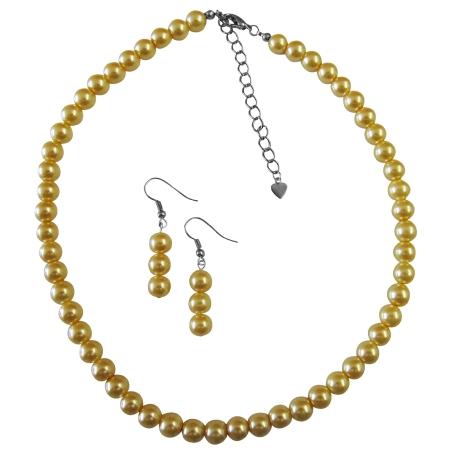Yellow Bridesmaid Dress Jewelry Very Cute Beautiful Yellow Color Jewelry Set