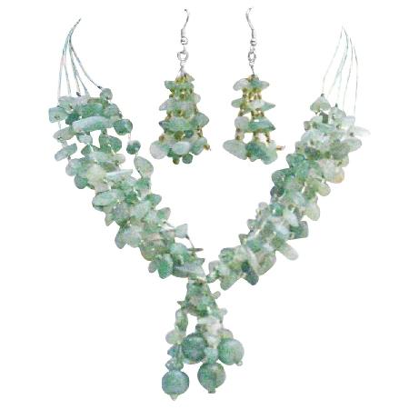 Sensuality Jewelry Jade Silk Thread Multi 5 Strand Interwoven Stones