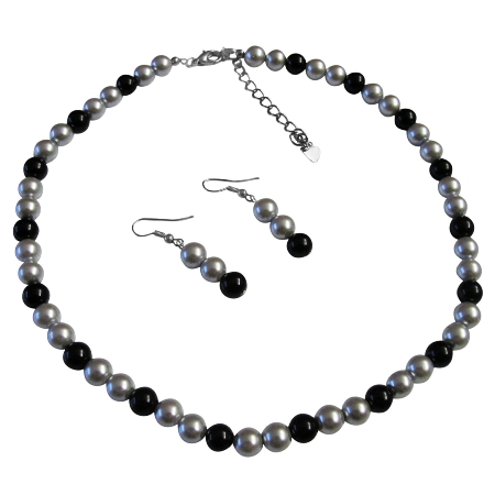 You Will Look Great In Our Pearl Jewelry Available Special Wedding Silver & Black Dress