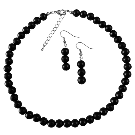Black Pearl Wedding Jewelry Under Necklace Set The Least