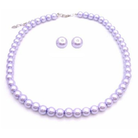 Lavender Jewelry Handmade Customize Wedding Jewelry Lilac Necklace Set