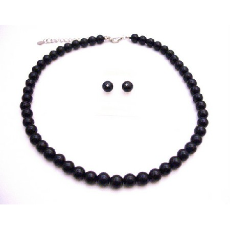 Black Pearls Wholesale Jewelry Under $10 Bridesmaid Necklace Set