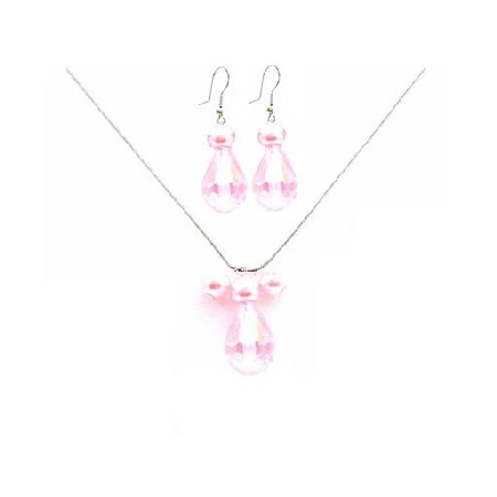 Customize Your Wedding Jewelry Rosaline Teardrop Crystals Necklace Set