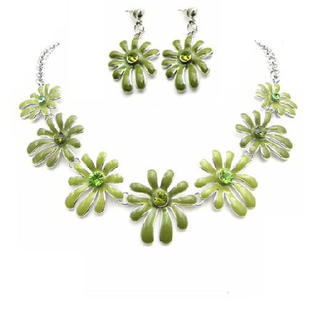 Honeydew Jewelry Wedding Prom Artistic Flower Round The Neck Jewelry