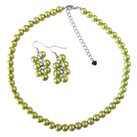 Fashion Jewelry Are Exclusive For Wedding Pearls Jewelry Lite Olivine Pearl Jewelry