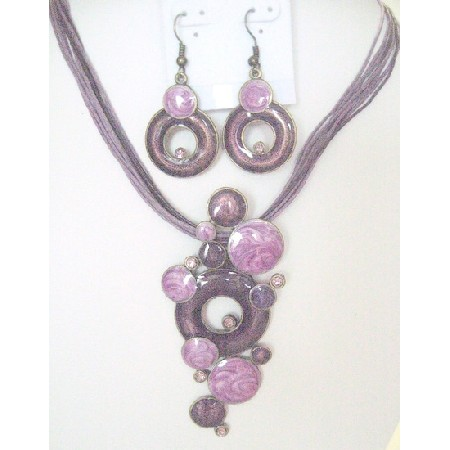 Fancy Striking Jewelry Purple Jewelry Set Affordable Gift Necklace Set