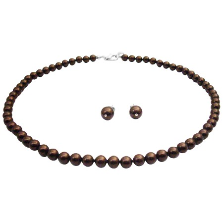 Are You Looking For Deep Brown Necklace Wedding Jewelry Set