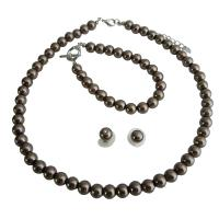 Wedding Brown Pearls Complete Set Exclusive Hancfrafted Affordable Jewelry