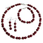 Apple Red Color Jewelry Set Wedding Jewelry Special Customize Holiday Gift
