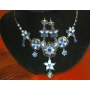 Blue Enamel Plating Rhinestones Set