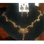 The antique Designed Jewelry of Gold Plaed Necklace & Earrings