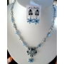 Vintage Style Necklace Set Adorned w/ Brilliant Simulated Crystals